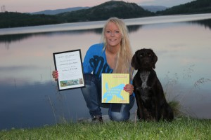 Roxy m hederspris og apportprøvens beste unghund